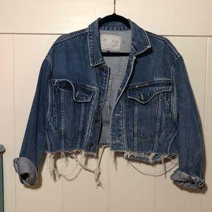 Cropped denim jacket